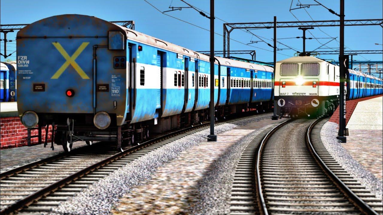 Chandigarh - Prayagraj 14218 Unchahar Express In Indian Train Simulator   Indian Railways   Game