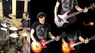 double talkin jive guns n roses guitar solo bass drum cover