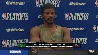 Jimmy Butler Postgame Interview - Game 4 | Bucks vs Heat | September 6, 2020 NBA Playoffs