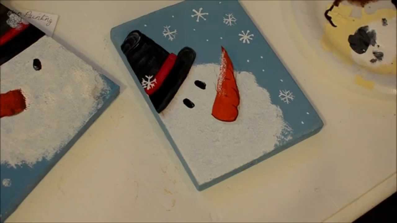 Let 39 s paint a snowman youtube for How to paint snowmen