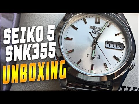 Seiko 5 SNK355 Unboxing And First Impressions/Review