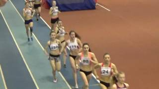 Бег 1500 метров. Первенство России-2017 Юниорки