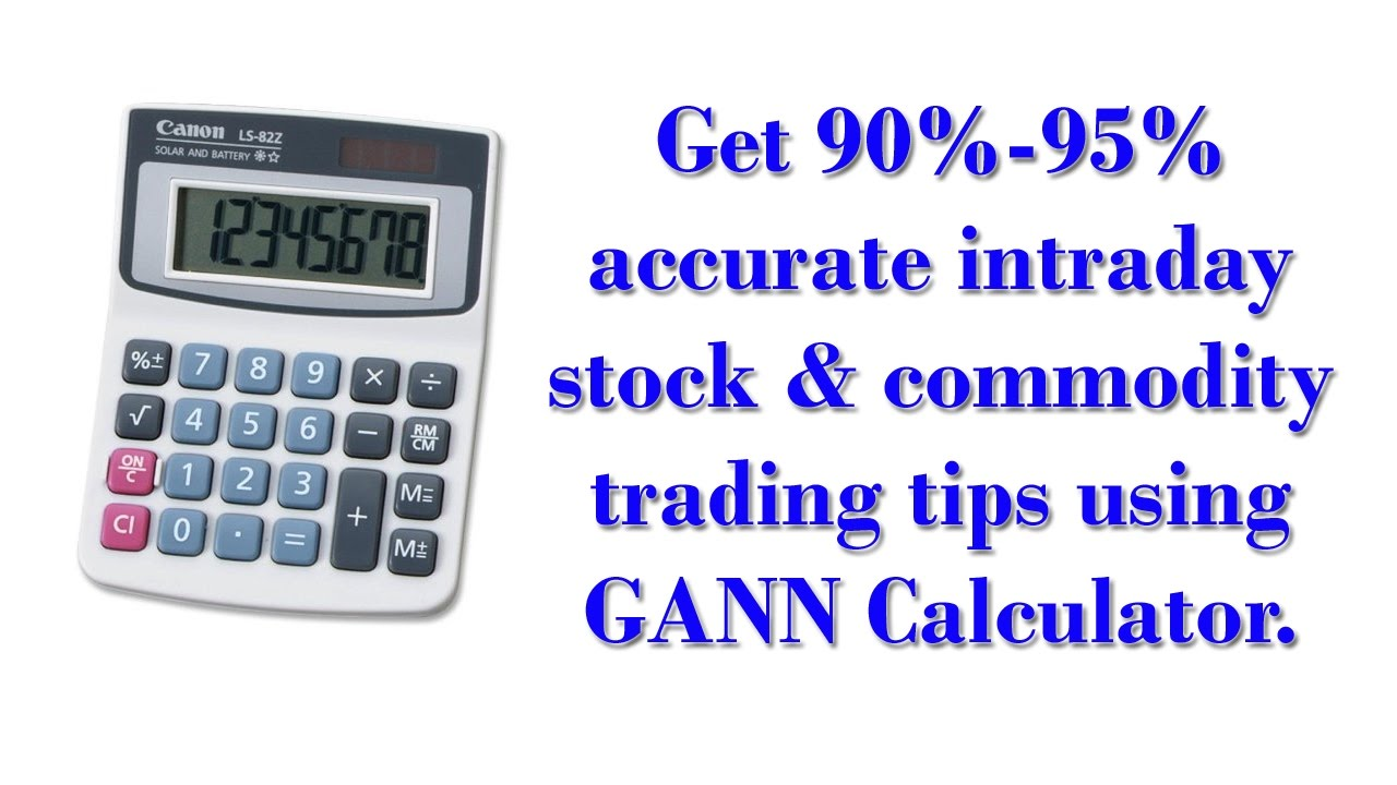 How to get accurate intraday buy sell levels using GANN Calculator