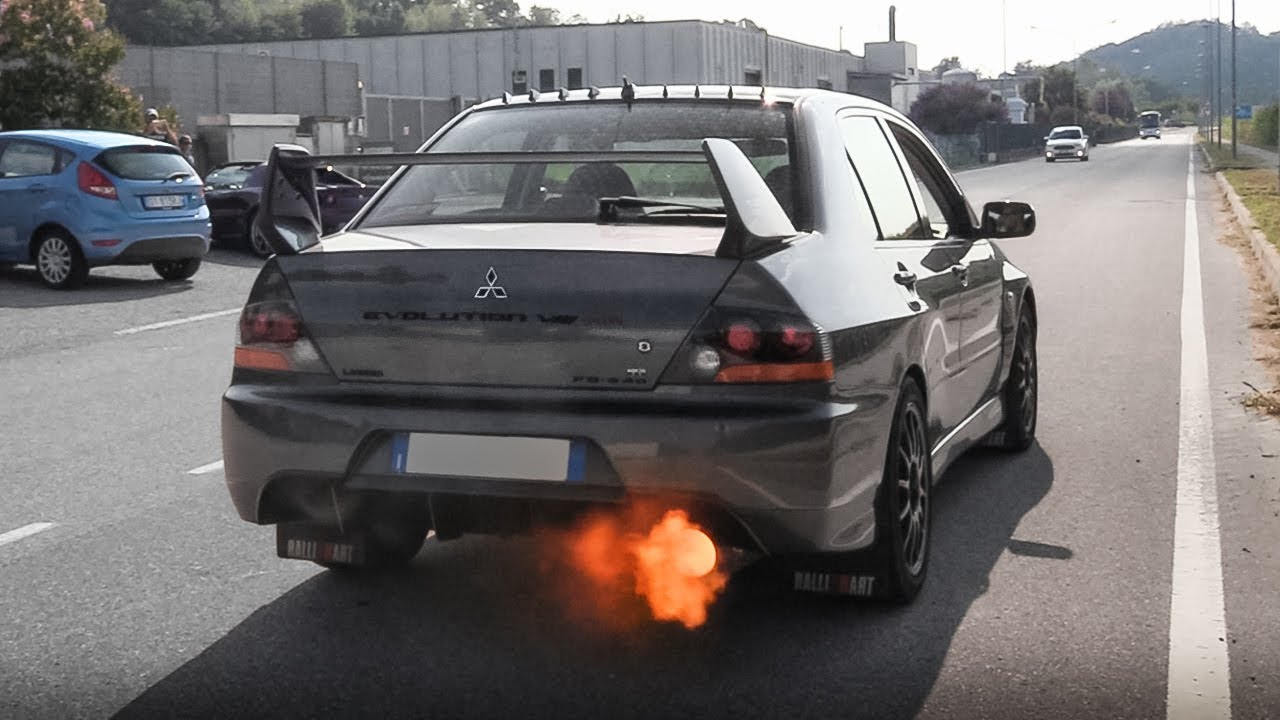 mitsubishi lancer evolution viii mr fq 340 w turbo anti lag accelerations launch onboard