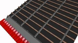 schletter animazione montaggio struttura fissaggio moduli fotovoltaici tetto integrato