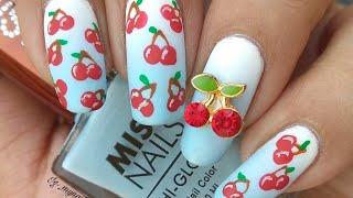 Cherry Nail Art Tutorial!!! BeautyBigbang.com 3D cherry Nail charms review and Demo!!
