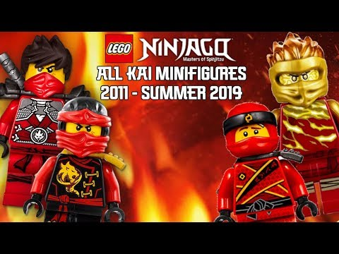 Ninjago Masters of Spinjitzu: All Kai Minifigures (2011 - Summer 2019)