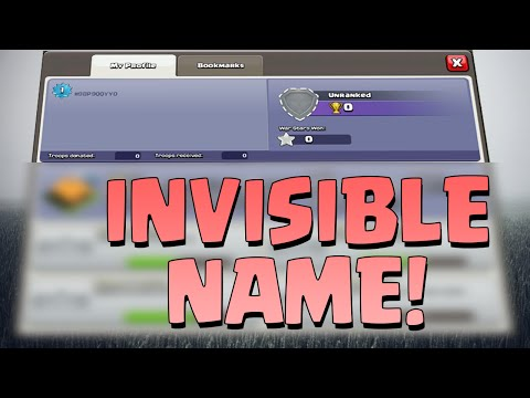 INVISIBLE NAME TUTORIAL! - CLASH OF CLANS/CLASH ROYALE!