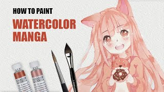 Manga colouring tutorial (without Copic!) ✎ CurtisSheeran