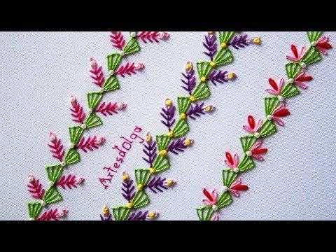 Hand Embroidery: Decorative Stitches 5  Bordado a mano: Puntadas Decorativas 5  ArtesdOlga