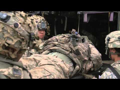 Airmen Conduct Aeromedical Evacuation Training