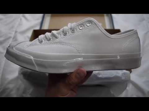 a30dcf0c3ecd 1 Minute Unboxing - Converse Jack Purcell Signature OX (White) - YouTube