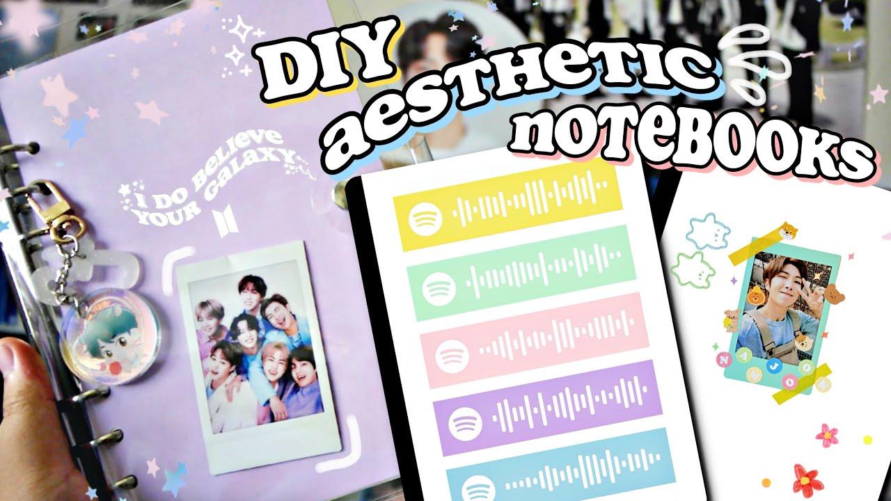 DIY Aesthetic KPOP Notebooks 2020 ☆ BTS EDITION - YouTube