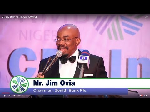 Women in Investment Management Initiative - MR JIM OVIA, Chairman - Zenith Bank PLC