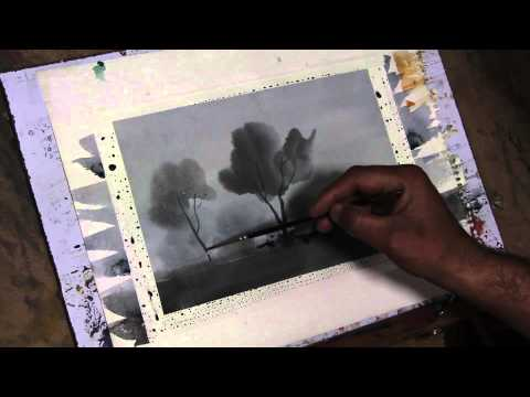 Easy Landscape for Beginners in watercolors