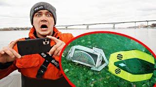 Погрузили подводный дрон на дно чтобы достать айфон и другие жуткие находки