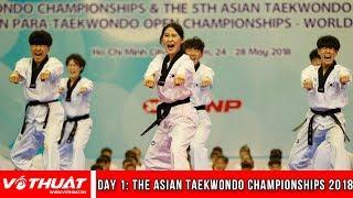 Giải Taekwondo châu Á 2018| Việt Nam có huy chương đầu tiên,VĐV khuyết tật gây ấn tượng| DAY 1