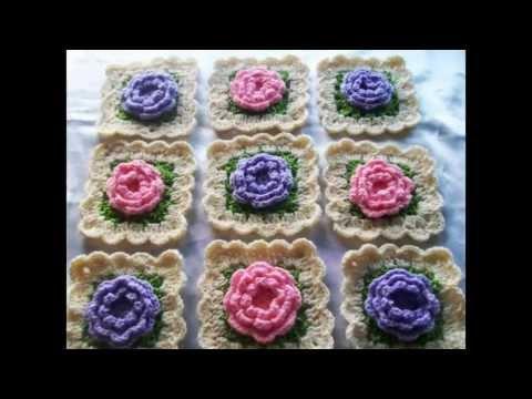 C mo unir cuadros granny en tiras ganchillo crochet - Cuadraditos de crochet ...