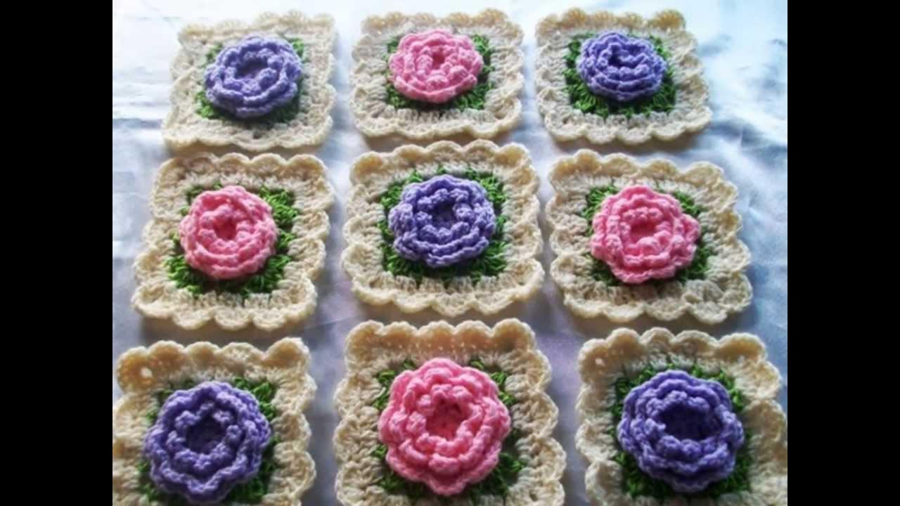 Cuadraditos en crochet granny youtube - Cuadraditos de crochet ...