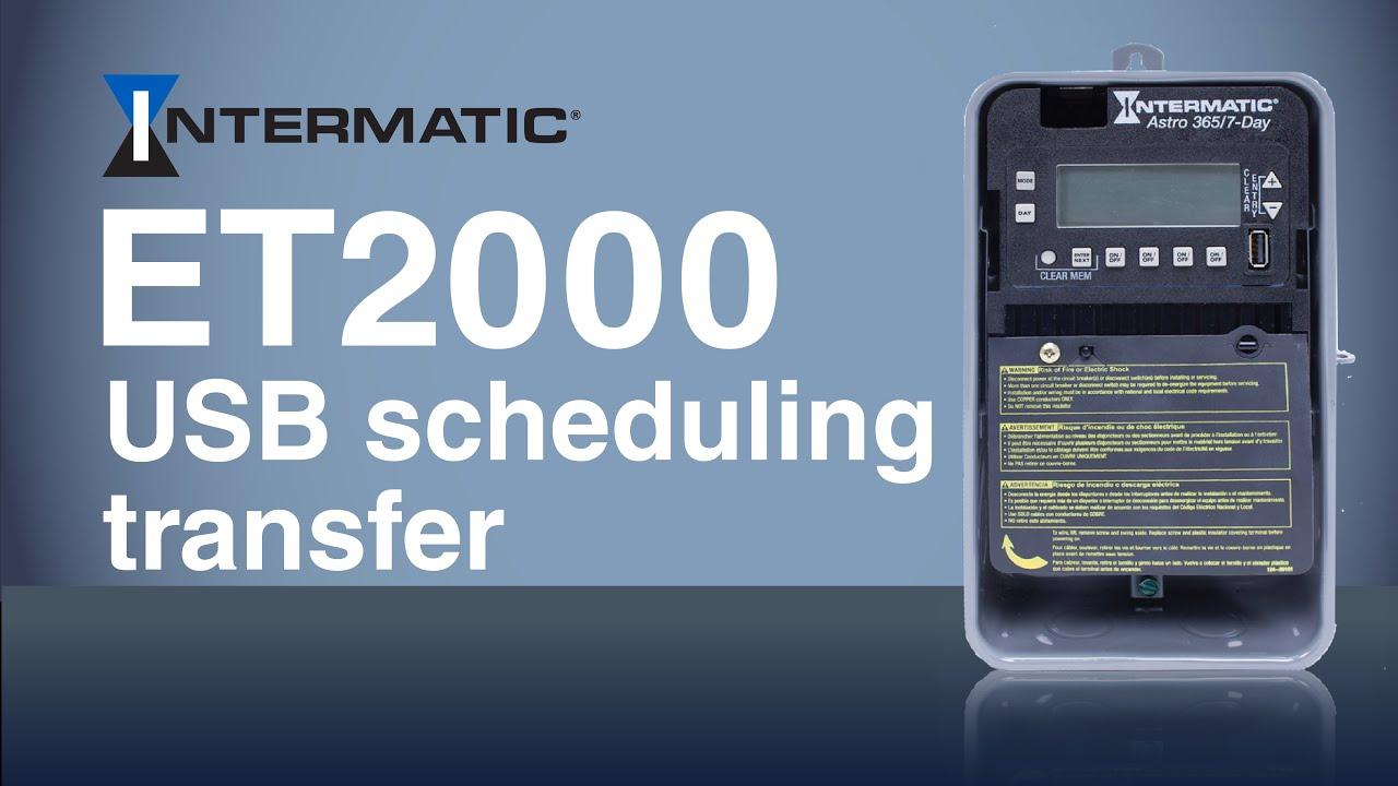 et2000 usb schedule transfer intermatic [ 1280 x 720 Pixel ]