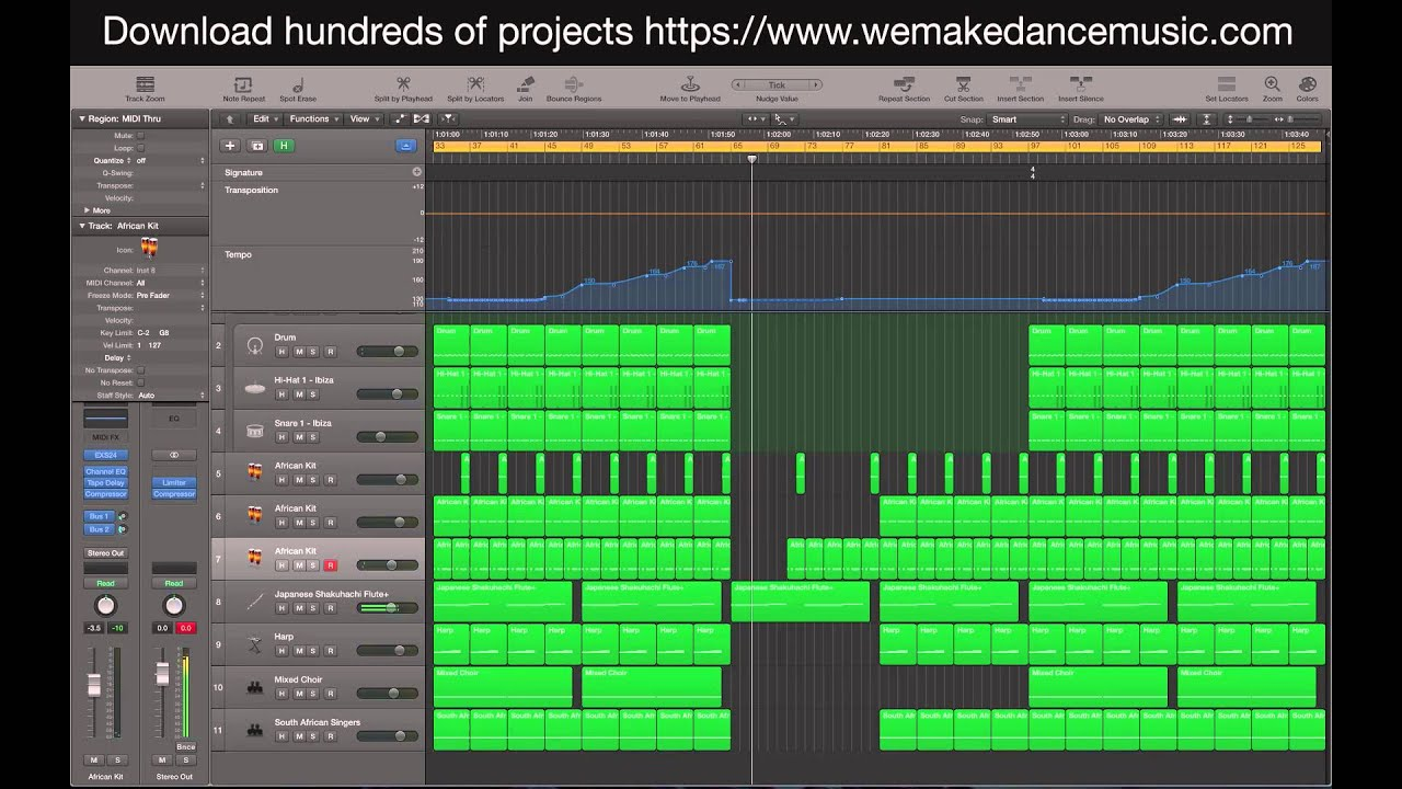 how to send a logic pro x project