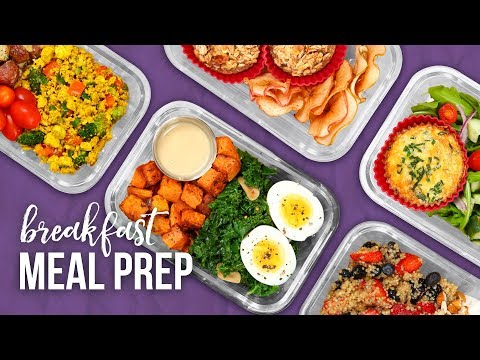 5 Healthy BREAKFAST Meal Prep Ideas | New Year 2018