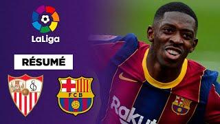 Résumé : Dembélé et Messi, héros du FC Barcelone contre Séville !