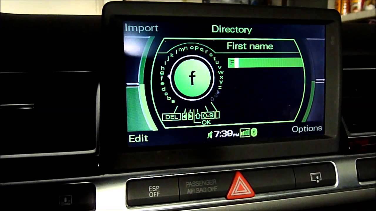 mmi 2g phone navigation voice commands youtube. Black Bedroom Furniture Sets. Home Design Ideas