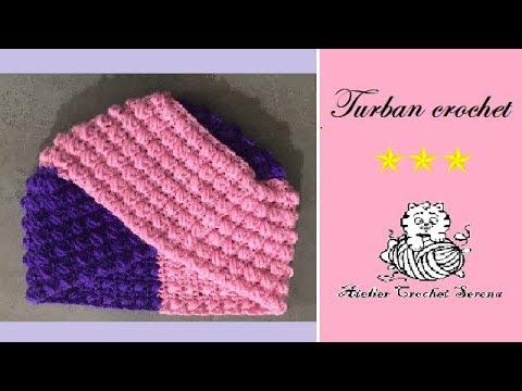 tuto bonnet turban crochet pas pas pour les nuls d butant apprendre le crochet. Black Bedroom Furniture Sets. Home Design Ideas