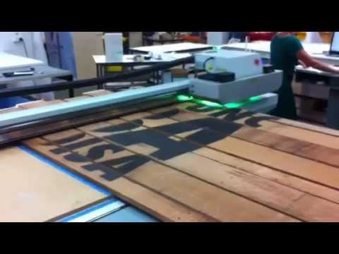 uv inkjet printing onto wood at colourchiefs youtube. Black Bedroom Furniture Sets. Home Design Ideas
