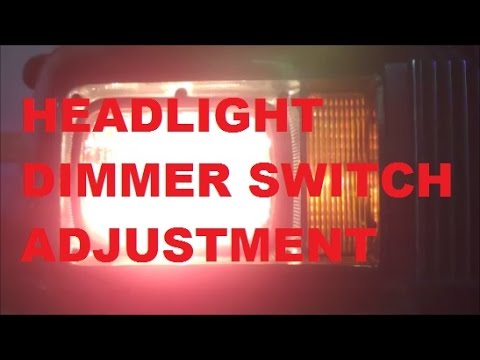 Headlight Dimmer Switch Adjustment Gbody How To