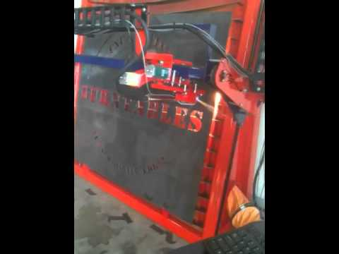 Cnc Vertical Table Plasma Cutting Youtube