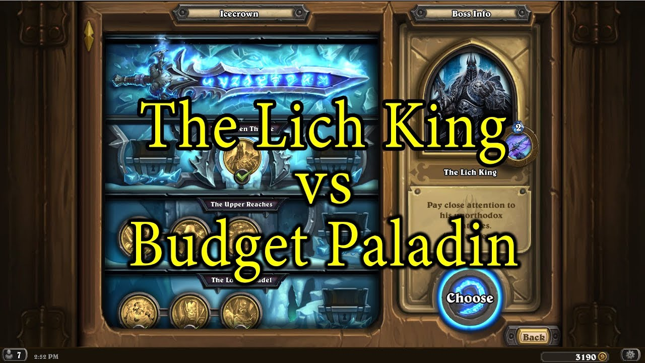 Hearthstone The Lich King With A Budget Paladin Deck