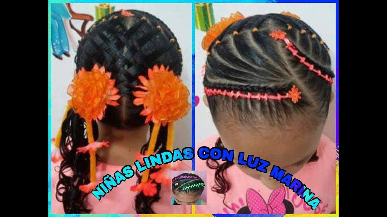 Peinados infantiles faciles con cintas