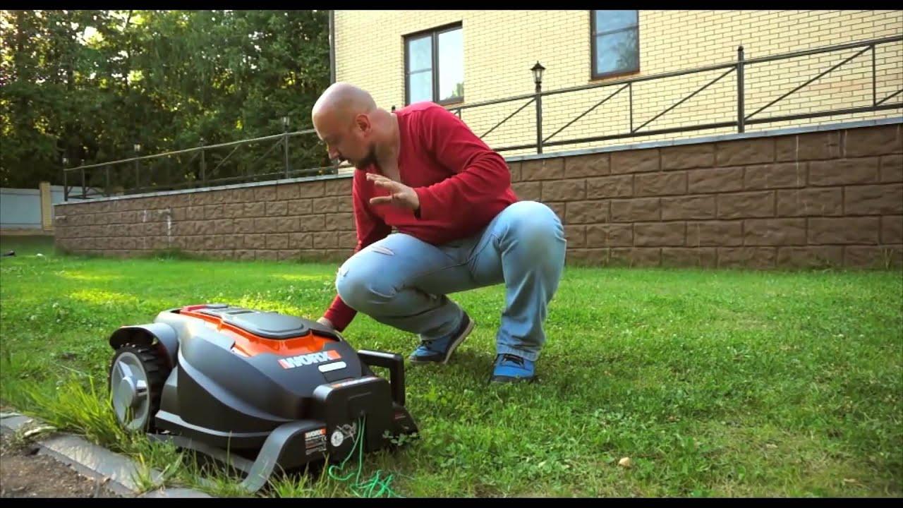 Сравнительный тест роботов газонокосилок.