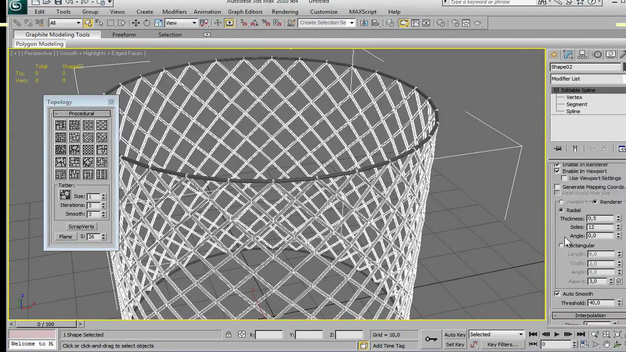 3ds Max Mesh Modeling Tutorial Youtube