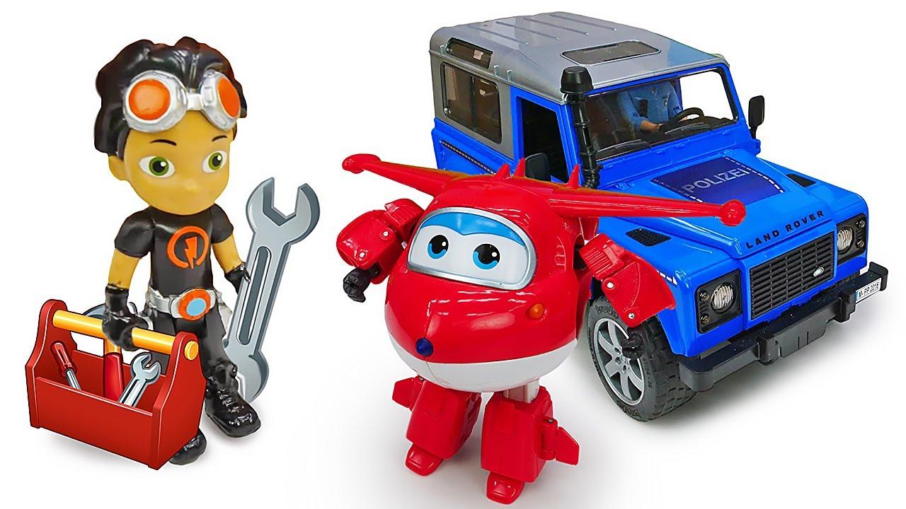 Игрушки машинки и Супер Крылья чистят сугробы! Расти Механик чинит машинку! Игрушки из мультфильмов