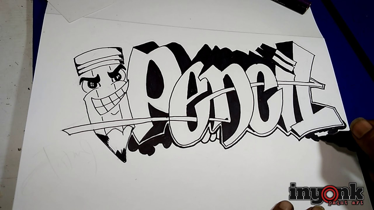 52 Gambar Dari Pensil Grafiti Terbaru