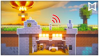 ► How To Build An Underground Nuclear Base In Minecraft With Working Siren | Secret Bunker