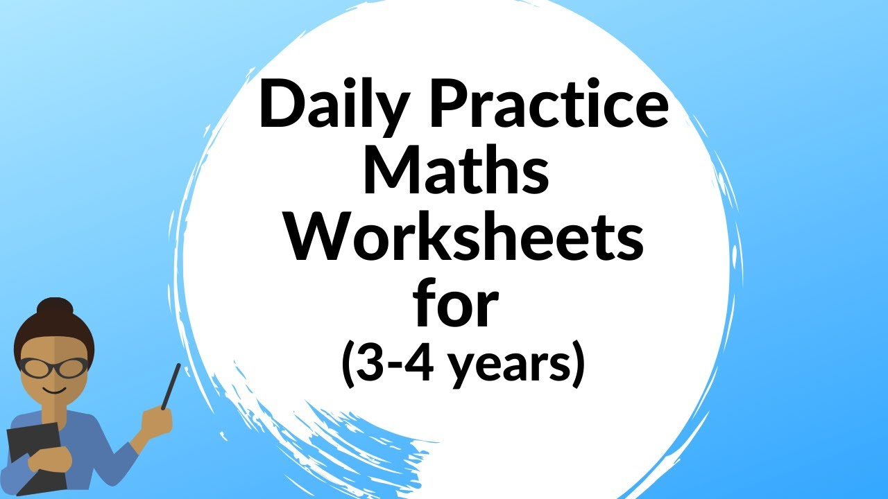 medium resolution of MATHS WORKSHEETS FOR 3-4 YEARS   Maths Free Worksheets for Pre School