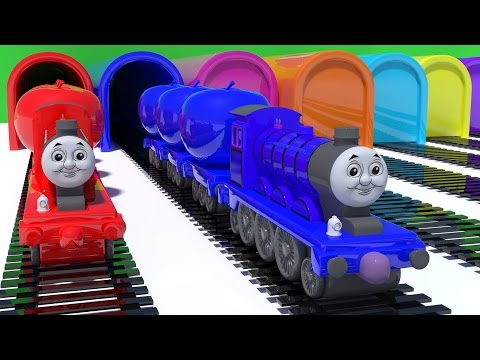 Thumbnail: Baby Learn Colors with Thomas Train Educational Video Cars Toys for Kids Nursery Rhymes Songs