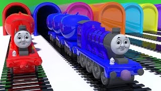 Baby Learn Colors with Thomas Train Educational Video Cars Toys for Kids Nursery Rhymes Songs