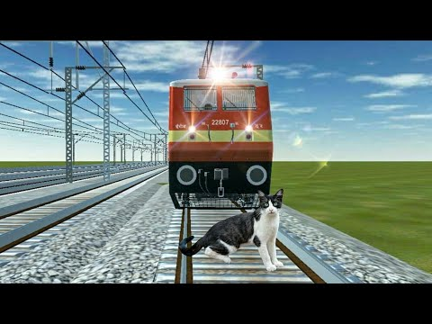 Crazy Cat STOPS the Train and escapes Indian Railways in Trainzimulator