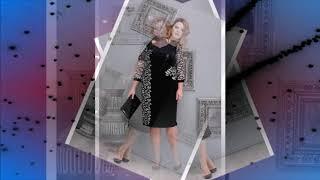 Бархатные платья для полных женщин - вечерняя мода