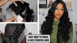 HOW TO MAKE A LACE FRONTAL WIG THE EASY WAY ft LAKI HAIR
