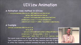 Stanford University Developing iOS 7 Apps: Lecture 8 - Protocols, Blocks, and Animation