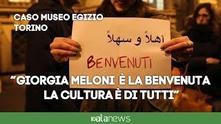 """Flash mob Museo Egizio:""""Giorgia Meloni è la benvenuta"""""""
