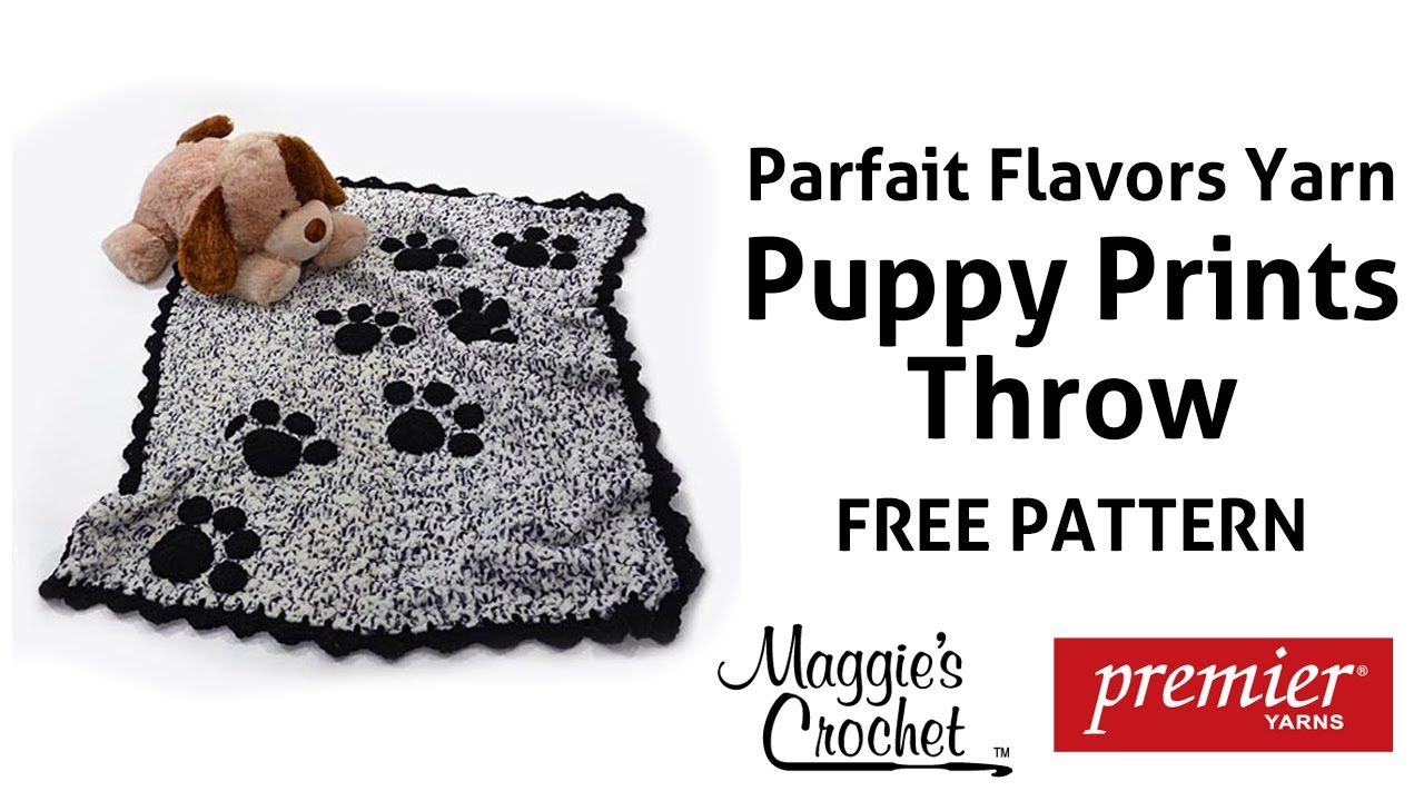 Free Crochet Pattern For Paw Print : Puppy Paws Afghan Free Crochet Pattern - Right Handed ...