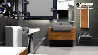 3D ролик. Реклама ревизионных люков для ванной.