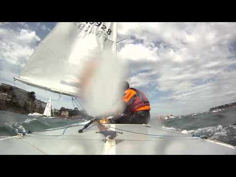 Day 1 - No Race - 17/05/2012 French National Flying Fifteen in Dinard